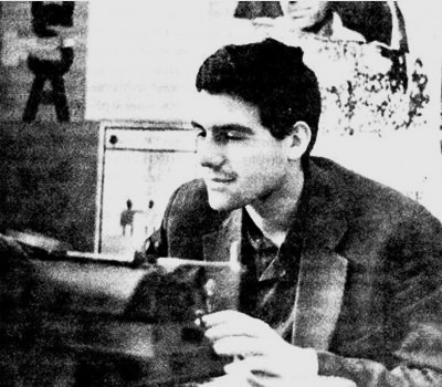Довлатов - корреспондент многотиражной газеты Ленинградского кораблестроительного института. 1965 г.